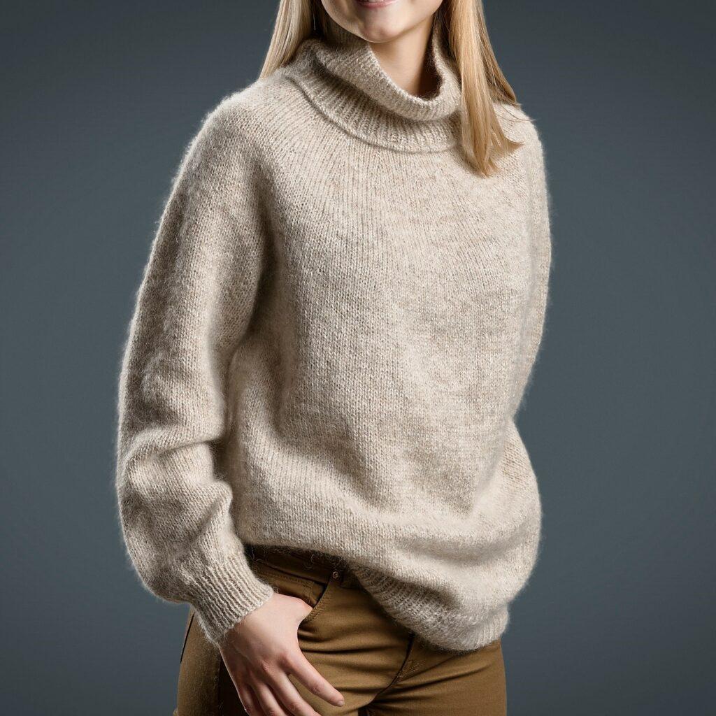 Luksus sweater, beskåret